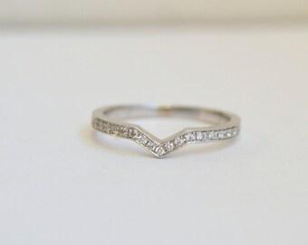 Diamond Wedding Band, Eternity Ring, White Gold Ring, Eternity Diamond Band, Wedding Band, Wedding Ring, Stackable wedding band