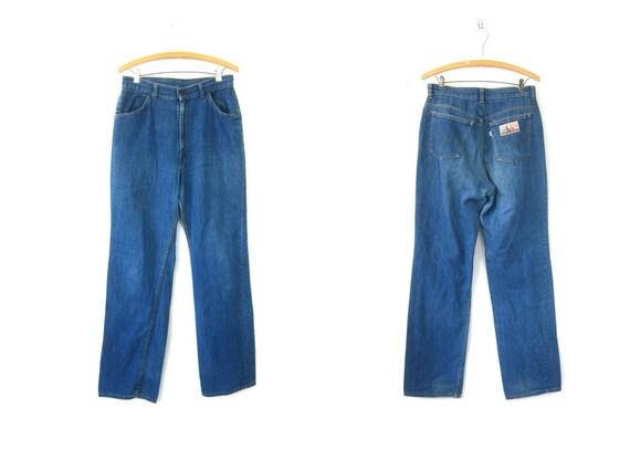 1970s Levi's Jeans Boho Hippie Vintage PlowBoy Farmers Mechanics & Miners Jeans Long Thin Denim Pants Hipster size 30 x 33
