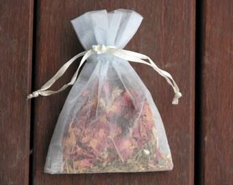 Healing Sachet, Herbs, Crystals, Metaphysical, Magical Use, Healing, Spiritual, Metaphysical Herbs