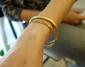Stacking Bangles Gold Bangles Gold Bracelets Unique Gold Bangles Different Gold Bangles Hammered Gold Bangle Gold Stacking Bangle Unique