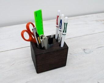 Oak Ton Antique Small Desk Organizer for Tools, Personalized Office Desk Accessories, Pencil Holder, Office Decor, Desk Decor, Gift for ALL