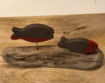Two small fish glazed on Driftwood