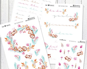 Mini Planner Kit, Sweet Southern Cotton, Weekly Planner Stickers, Monthly Stickers, Journal Setup