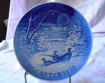 Bing and Grondahl Christmas Plate, 1970, Copenhagen Porcelain, Made in Denmark, 1970, #8000/9070