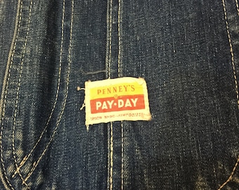 1950's Denim Penney's Pay Day Chore Jacket
