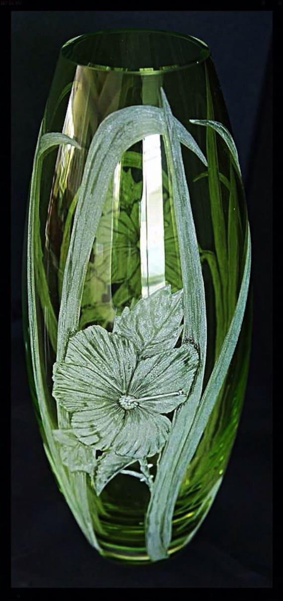Forever Floral green vase