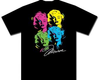 Marilyn Monroe Neon Warhol Shirt Retro Hot Neon Funky Shirt