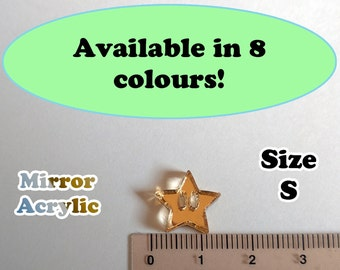 Star Laser Cut Mirror Acrylic Cabochons Supplies, Great for Earrings!