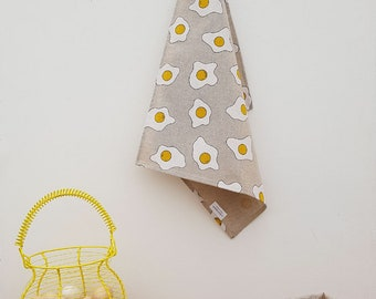 Tea towel - towel - egg, fried eggs