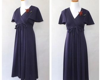 Vintage 1970s Young Edwardian Arpeja Dress 70s Greco Roman Day Dress Sundress Romantic Flirty Dress Size Small Hippie Bridesmaid Prom Gown