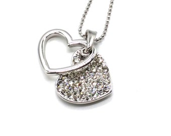 Heart to Heart Sparkling Pendant Necklace
