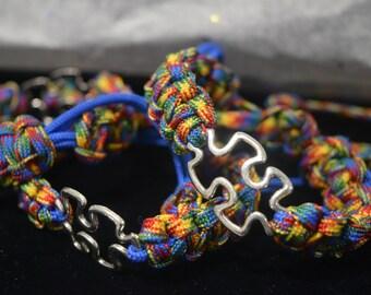 Autism Ajustable Paracord Bracelet