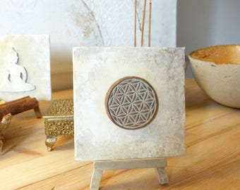 Flower of life I mini canvas on easel