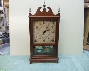 Vintage Seth Thomas Shelf Mantel Clock Tradition-3W E961-000 Germany 2 Jewel Movement - Serviced