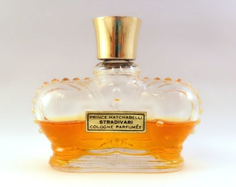 Vintage 1950s Stradivari by Prince Matchabelli 1 oz Cologne Parfumee Crown Bottle PERFUME