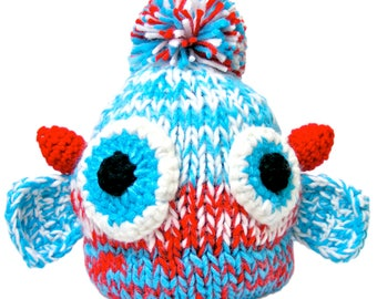 Handmade Knit and Crochet Monster Hat Cap