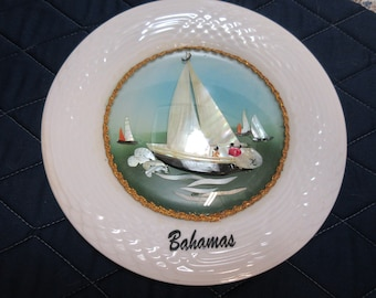 Vintage Abalone Plate 1970,s