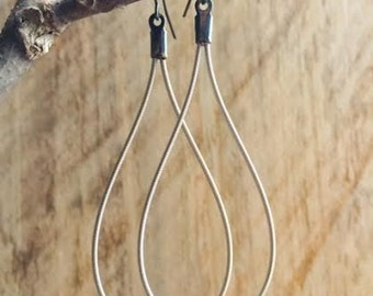 Recycled Electric Guitar String Earrings
