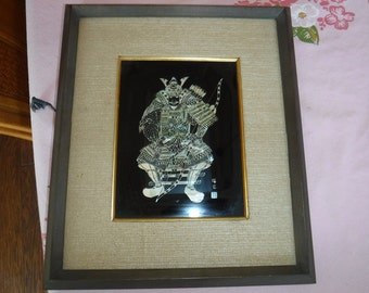 Japanese Mother of Pearl Samurai Art 1950's