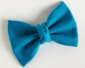 Fabric Bow, Baby Headband, Turquoise Bow, Bow Headband