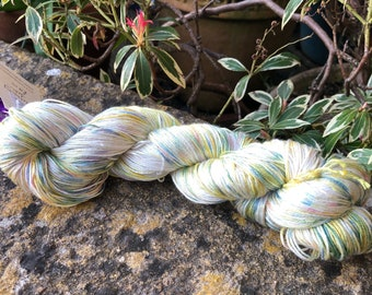 """Fingering weight weight mulberry silk yarn """"easter"""""""