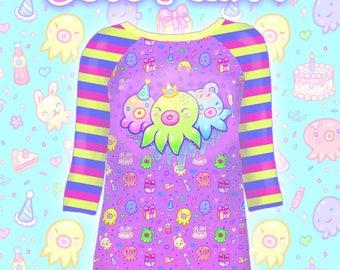 "Purple ""OctoParty"" Raglan Shirt"