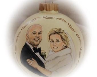 Wedding Portrait Painting - Custom Wedding Portraits Ornaments