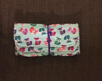 Set of 3 flannel burp cloths - foxes