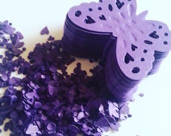 50, deep purple, deep purple with shimmer,shimmer, dark purple,butterflies, royal purplepaper, scrap booking, wedding, by DoodleDee2 on etsy