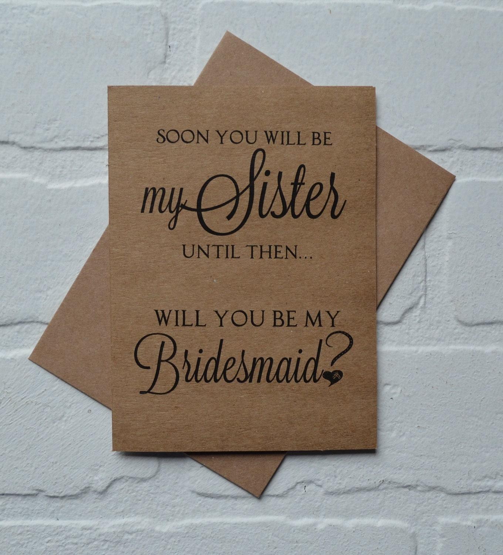 Sister Bridesmaid Proposal