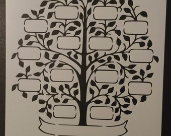 Family Tree Custom Stencil FAST FREE SHIPPING