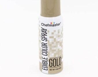 Gold Chefmaster Edible Color Spray 1.5oz