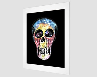"Watercolour Skull Art Print 11"" x 14"""