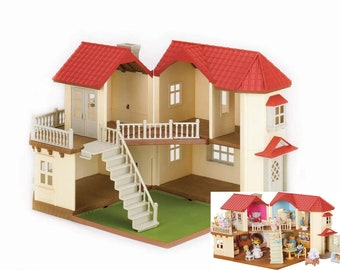 DIY Wallpaper Templates for Calico Critters Luxury Townhome , Calico Critters, Sylvanian Families