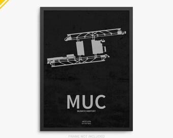 MUC Airport, Munich Airport, Munich Germany, MUC Airport Poster, Munich Airport, Munich Airport Poster, MUC Poster, Munich, Germany