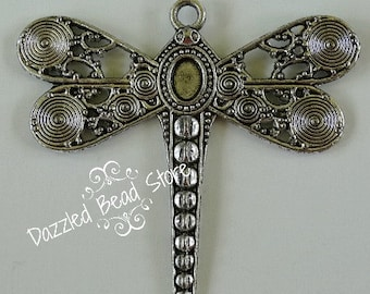 Pewter DRAGONFLY pendant 53mm x 59mm