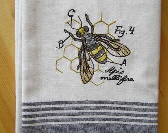 Diagram Bee Kitchen Towel