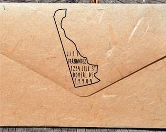 Delaware Address Stamp, Custom Delaware Address Stamp, State Stamps