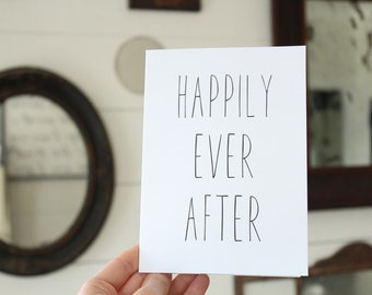 Happily Ever After Card   Simple Wedding Card   Congratulations Wedding Card   Greeting Card