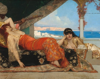"Jean-Joseph Benjamin-Constant : ""The Favorite of the Emir"" (c. 1879) - Giclee Fine Art Print"