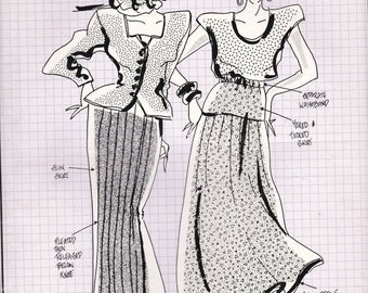 ON SALE 80's Sewing Pattern - Knitwit 2000 Designer Skirts Size 6 - 22 Factory folded and complete