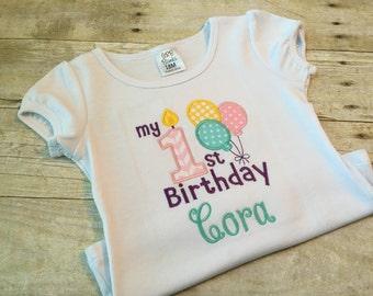 First Birthday Girl shirt or bodysuit - Girl first birthday - 1st birthday shirt - First birthday outfit for girls - Girls birthday party