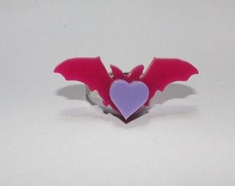 Batty Heart Ring
