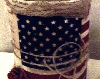 Freedom a Patriotic Altered Can