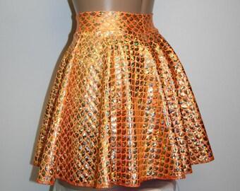 7 Colors Mermaid Circle Skirt Girls Women Fish Scale Costume Cosplay Custom Rave Roller Derby Shiiny Hologram