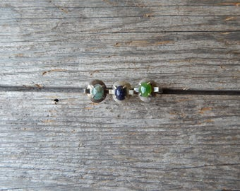Handmade Sterling Silver Rings 60's or 70's with stones - sold by the each - or buy all three!