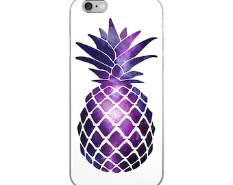iPhone Case with Pineapple Galaxy Design