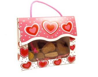 Valentine's Day Dog Treats - Valentine's Day Gift Tote Gift Box- - Gourmet Dog Treats Vegetarian All Natural - Shorty's Gourmet Treats