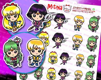 MSMO002 - SAILOR MOON inspiration stickers, 18 stickers
