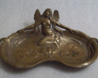 Brass Ashtray with a Fairy Design